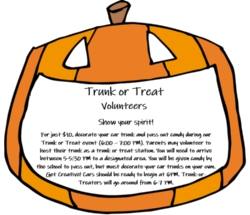 Trunk or Treat Volunteers